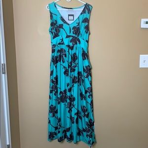 NWT Marshall's turquoise maxi dress
